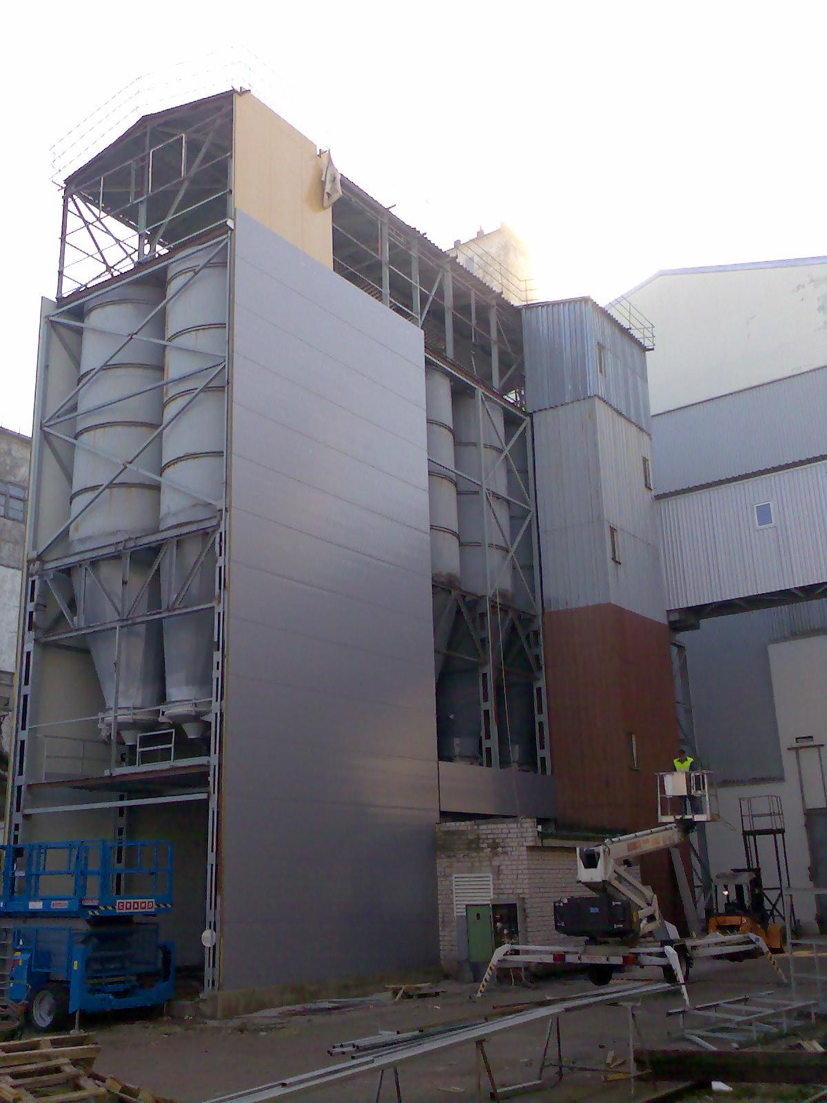 Flour mixing line reconstruction Rigas dzirnavnieks