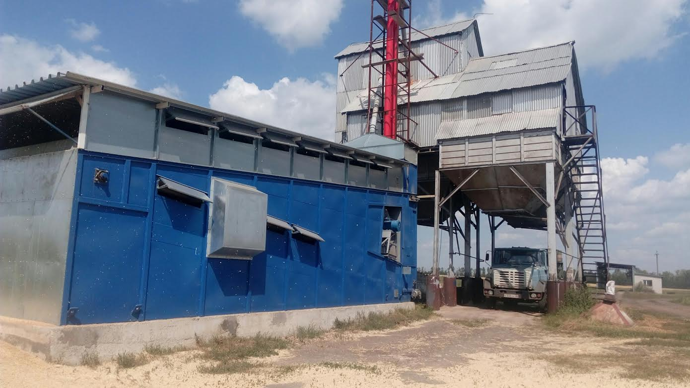 Double flow continuous grain dryer