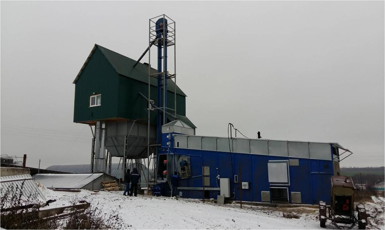 Double flow continuous grain dryer, 18 т/h with insulation