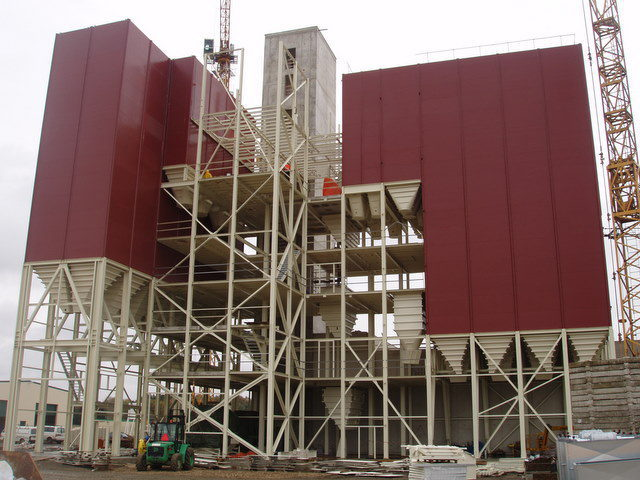 Granulu ražošanas ceha būvniecība