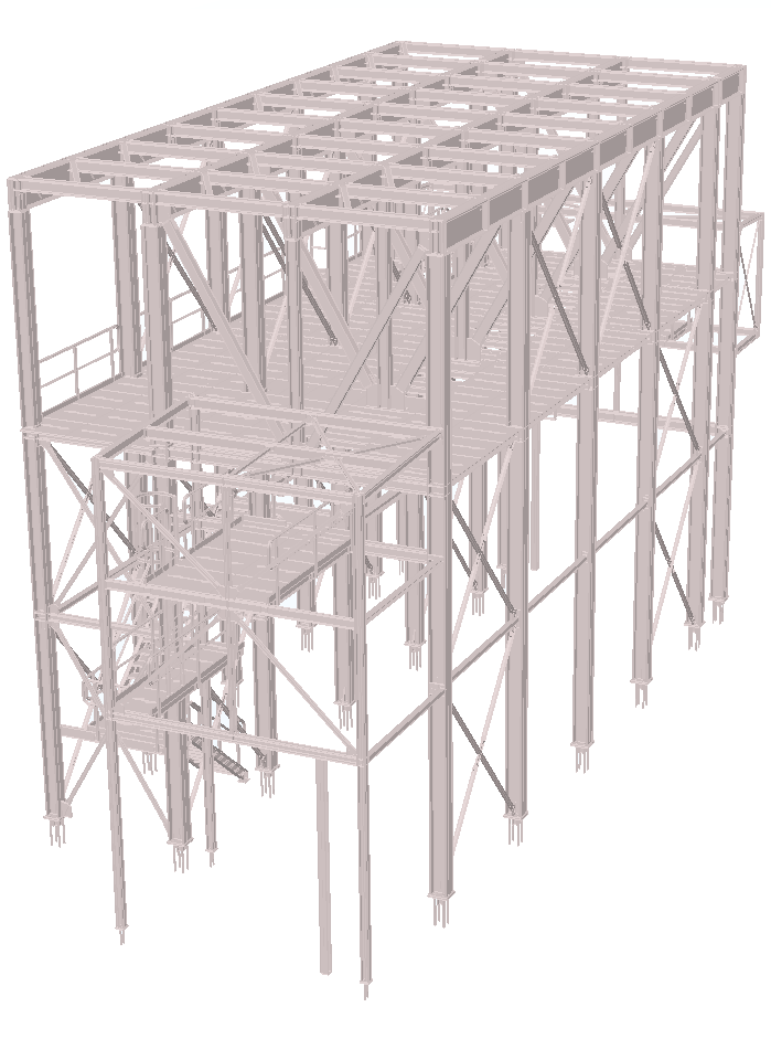 Silo support frame