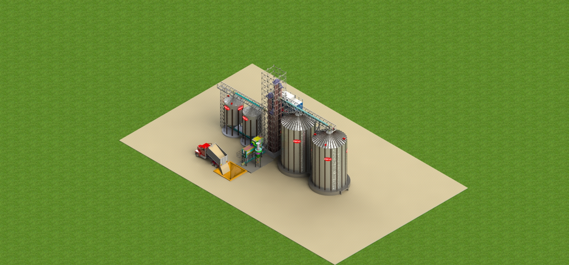 Silo with dryer project