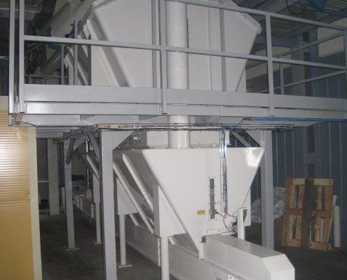 Batch scale Rigas dzirnavnieks flour mixing plant