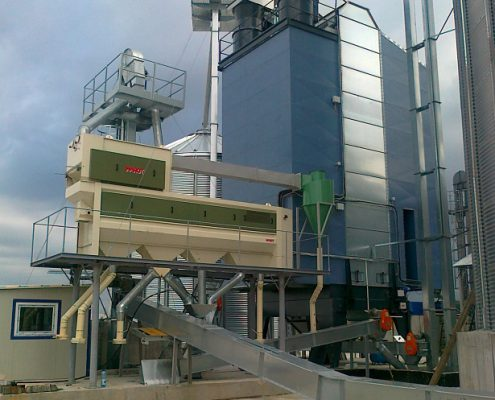 Grain dryer LAW SBC with precleaner MAROT
