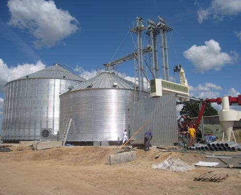 Grain silos, precleaner Marot, Bauska, Latvia, Malnieki