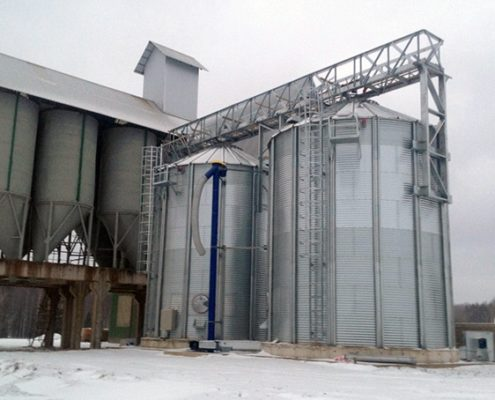 Grain silos with flat bottom, Gulbene, Latvia