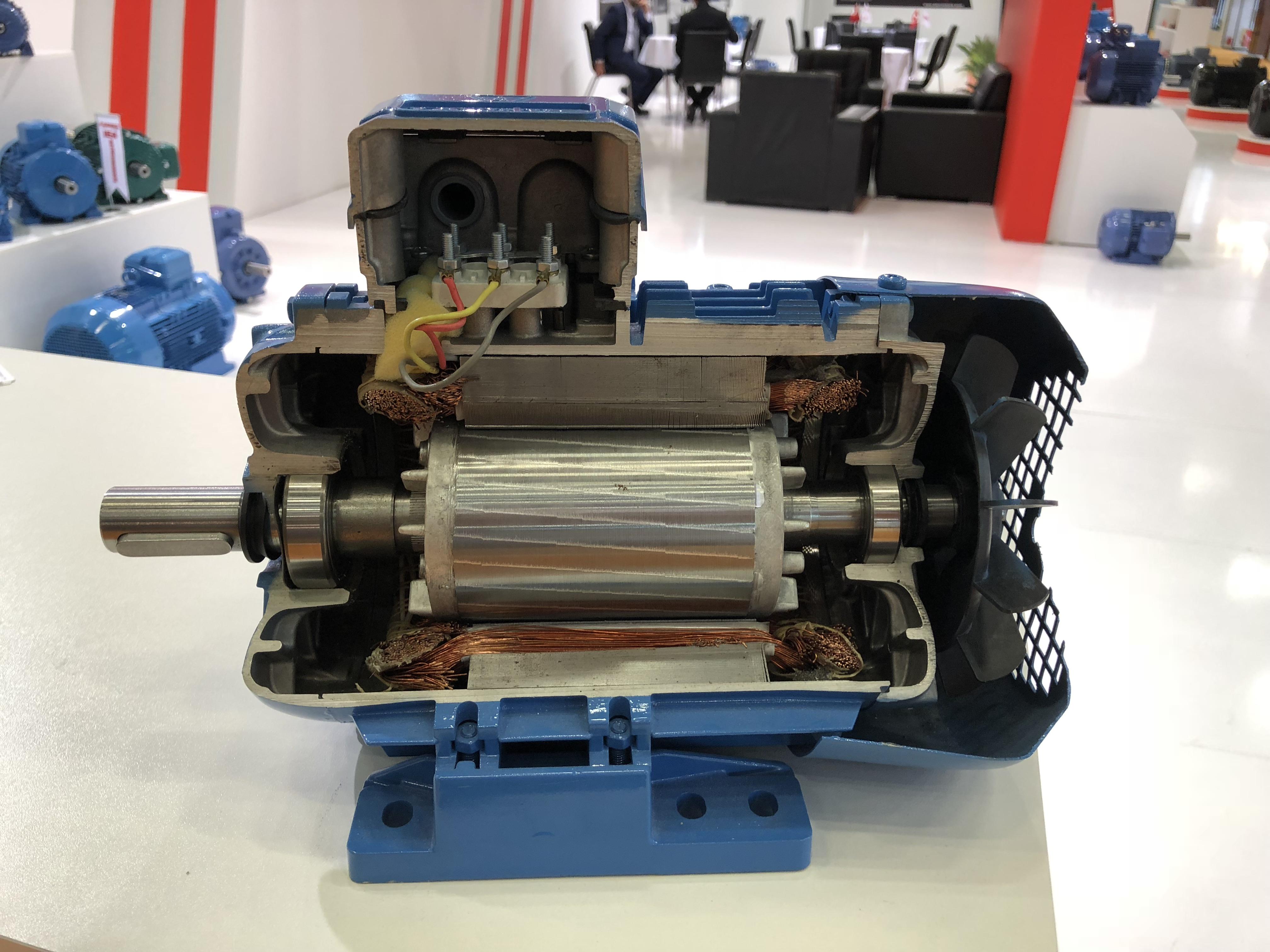 AEM motor inside view