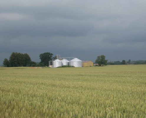 Grain complex Landmaņi, Bauska, Latvia