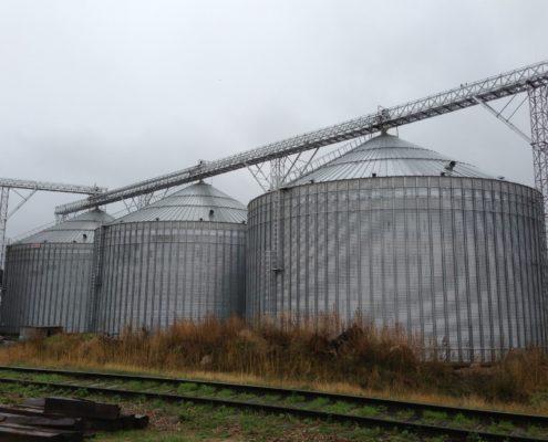 Grain silos, Liepaja Bulk Terminal