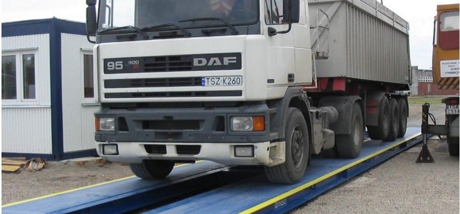 Автомобильные весы с бетонными рампами
